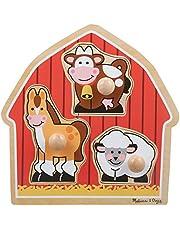 Melissa & Doug Barnyard Animals Large Wooden Peg Puzzle