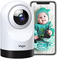 Voger Baby Monitor, 360-degree Wi-Fi Home Security Camera, PTZ Indoor Camera with 1080P IR Night Vision, Motion Tracking,...