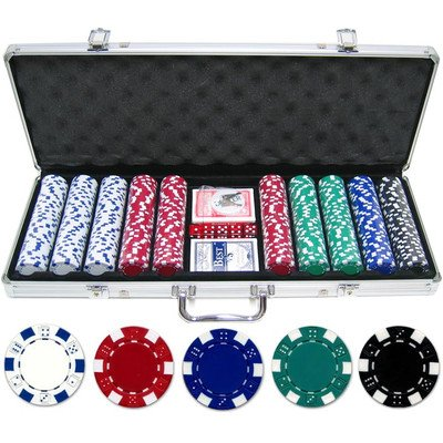 500 Piece Dice Poker Chip Set