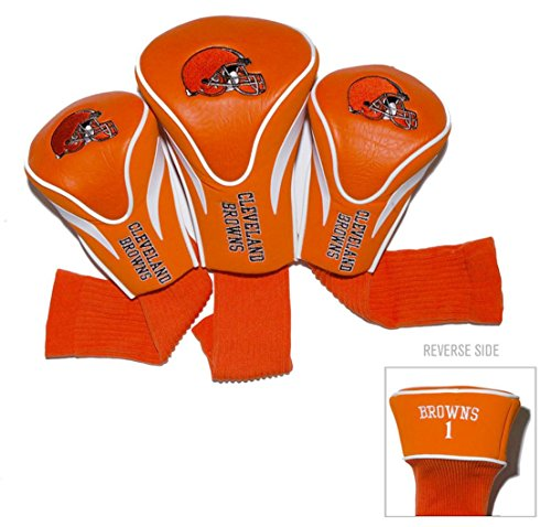 Cleveland Browns Golf Club 3 Piece Contour Headcover Set
