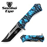 Snake Eye Tactical Action Assisted Folding Pocket Knife Outdoors Camping Fishing Hunting (Blue)
