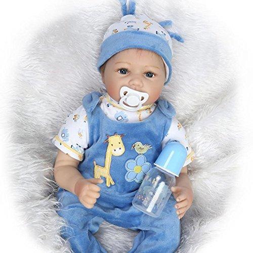 """22"""" Reborn Baby Doll main réaliste du nouveau-né Baby Doll Playmate Poupée magnétique factice Hot 55cm"""