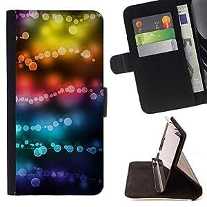 Jordan Colourful Shop - lights colors teal black focus blur For Sony Xperia Z3 D6603 - Leather Case Absorci???¡¯???€????€???????&bdqu