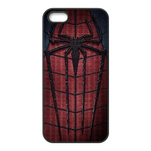 Amazing Spider Man coque iPhone 4 4S cellulaire cas coque de téléphone cas téléphone cellulaire noir couvercle EEEXLKNBC22959