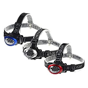 ECAREE HLF3001400 10 LED Head Lamp Set - 3 Pieces (1 Red + 1 Blue + 1 Silver)