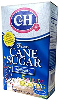 C&H Pure Cane Sugar CONFECTIONERS POWDERED 16oz (3 Pack)