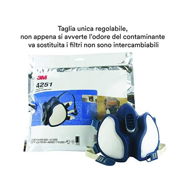 3M FFA1P2 4251C Respiratore per Gas e Vapori a Semimaschera, Bianco 2 spesavip