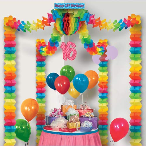 16th Birthday Party Canopy Party Accessory (1 count) (1/Pkg)