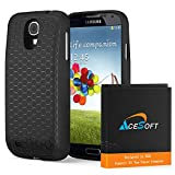 3 Accessory 6400mAh Extended Double Layer Battery TPU Case Back Cover for Verizon Samsung Galaxy S4 mini SCH-I435 Phone Fast Shipping