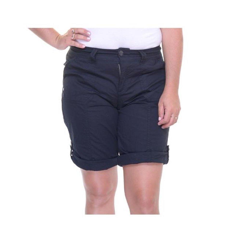 Style & Co. Petite Pull-On Cuffed Shorts Deep Black 4P