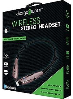 Chargeworx CX9014RG Wireless Bluetooth Earphone Headset Rose Gold