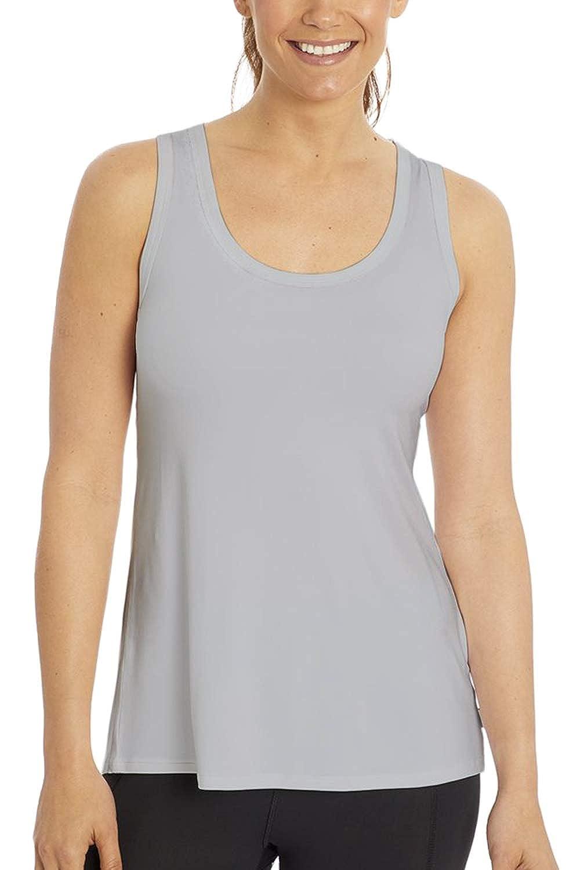 Sanutch Open Back Workout Tops for Women Sleeveless Yoga Activewear Running Cross Back Sports Shirts