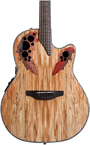 - Ovation CE44P-SM Acoustic-Electric Guitar, Spalted Maple