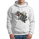 Man Boy Popular Anime Cartoon Final Fantasy VII Hooded Pullover
