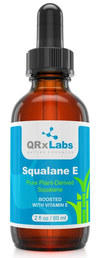 Pure Plant-Based Squalane Oil Boosted with Vitamin E (LARGE 2 oz) - Organic ECOCERT/USDA Certified Squalane Derived from Sugarcane - Best Moisturizer For Face, Body, Skin & Hair - 2 fl oz / 60 ml