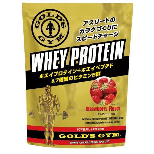 GOLD's GYM ゴールドジム ホエイプロテイン ストロベリー風味 1,500g F5615 B00Y2UM228