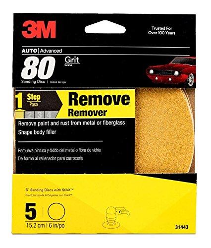 Amazon.com: 3M Sanding Disc, 31439, 6 inch, 180 grit & 3M Sanding Discs, 31443, 6 inch, 80 grit: Automotive