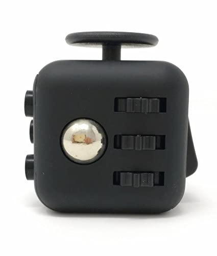 CPEI Fidget Cube Relieves Stress Anxiety Black Standard