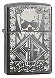 Zippo Black Ice Sons of Anarchy Reaper Crew Skull Black Ice Pocket Lighter