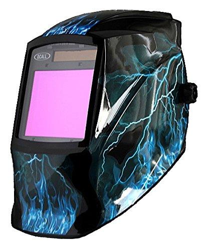 ocall funciona con energía solar oscurecimiento automático casco de soldar/Grind Máscara gran área de