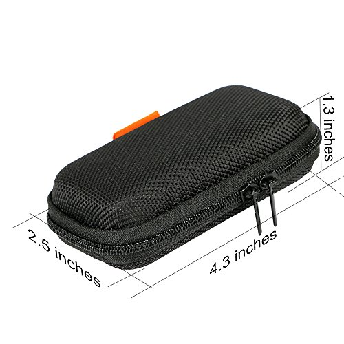 Large Product Image of GLCON Rectangle Shaped Portable Protection Hard EVA Case,Mesh Inner Pocket,Zipper Enclosure Durable Exterior,Lightweight Universal Carrying Bag Wired/Bluetooth Headset Charger Change Purse,Black