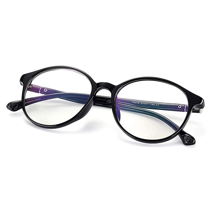 05cd1cc57b40 Fake Glasses Vintage Cat Eye Round Eyewear Frame Unisex Stylish Non-prescription  Clear Lens Eyeglasses