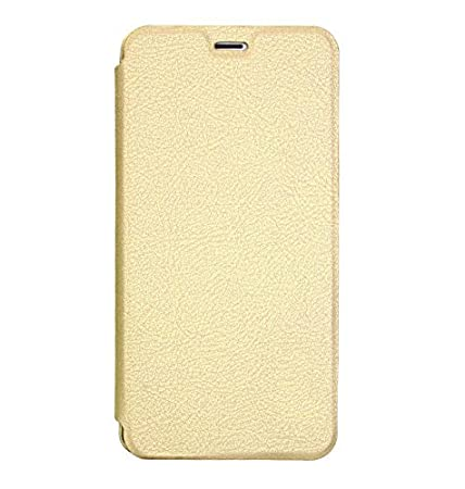 NewBreed Leather Flip Cover for Apple iPhone 7 Plus  Golden