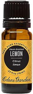 Edens Garden Lemon-Steam Distilled Essential Oil, 100% Pure Therapeutic Grade, 10 ml
