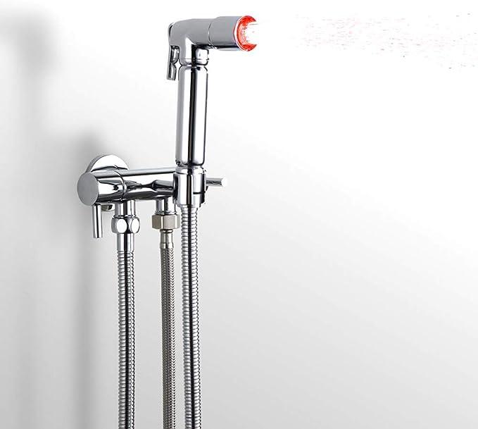 Toilette Shattaf Chrome Bidet Tuyau Douche À Main Pulvérisation Laiton Kit