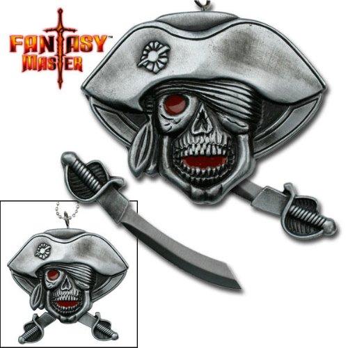NEW Pirate skull Neck Knife FM507