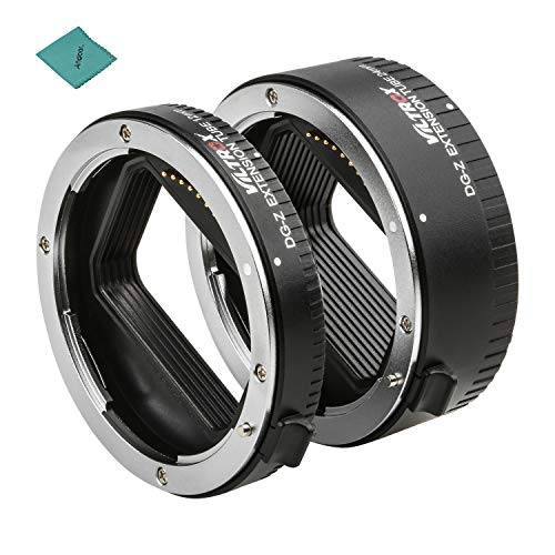 Viltrox DG-Z Automatic Macro Extension Tubes 12mm 24mm Full Frame Metal Adapter Ring Auto Focus Auto Exposure TTL Metering Compatible with Nikon Z Mount Cameras Lens Accessories