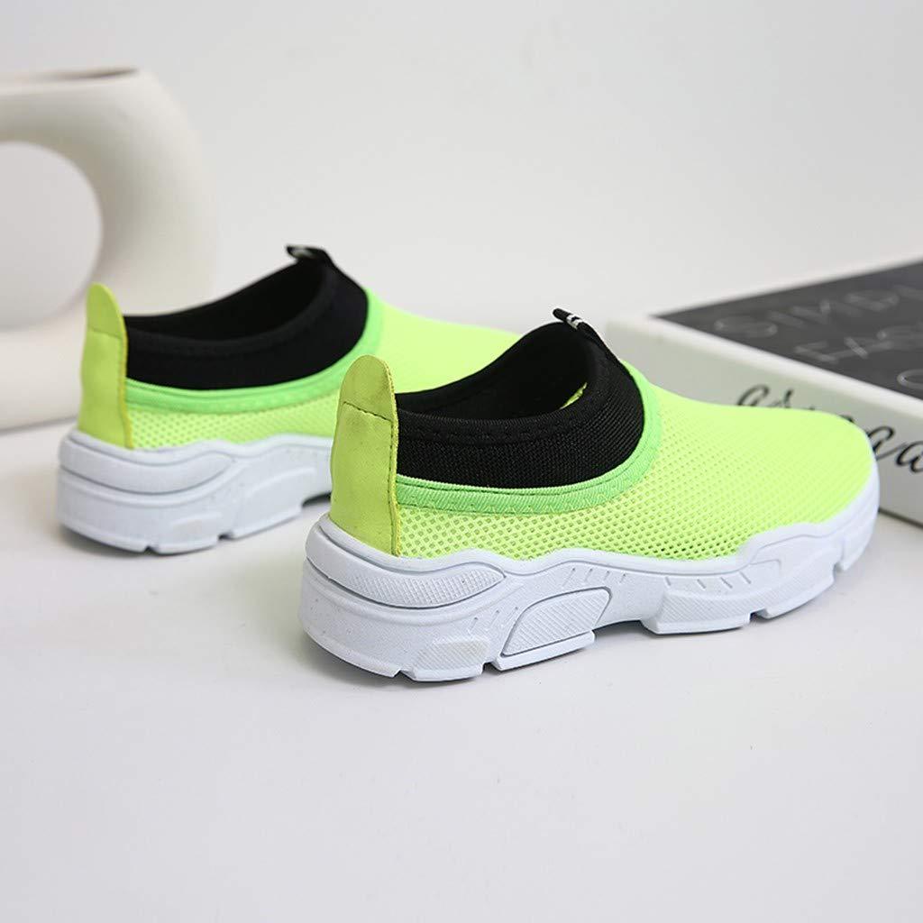 Makalon Unisex Kinder Atmungsaktive Leichte Klettverschluss Bequeme Running Sneakers Jungen Outdoor Sportschuhe M/ädchen Laufschuhe Hook/&Loop Hallenschuhe Schuhe Wanderschuhe