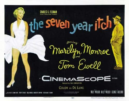 The seven year itch vintage movie poster print