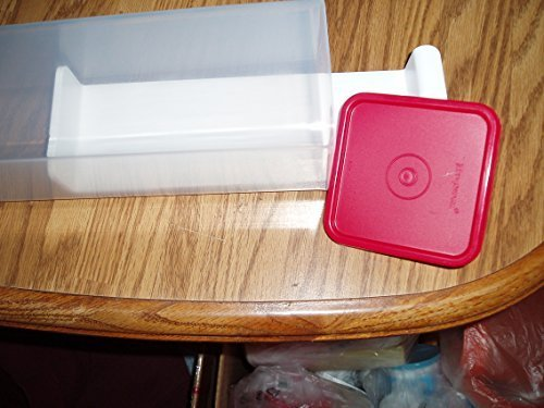 Tupperware Cheese Keeper Clear with Popsicle Red Seal (Cheese Holder)