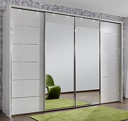 new product fa8a4 52214 Wiemann Manhattan 4 Door Sliding Wardrobe with Drawer ...