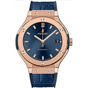 Hublot Classic Fusion Rose Gold Blue 38mm Mens Watch 565.OX.7180.LR