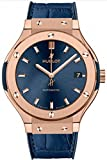 Hublot Classic Fusion Rose Gold Blue 38mm Mens Watch 565.OX.7180.LR