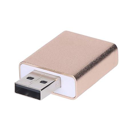 Cebbay Adaptador Externo de Tarjeta de Sonido USB Tarjeta de micrófono de Auriculares de 3,5 mm Jack estéreo 3D Fácil de Instalar, no Requiere ...