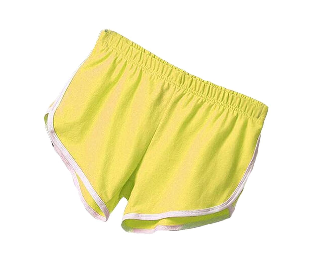 GRMO Women Casual Stretch Color Blocked Gym Yoga Beach Shorts