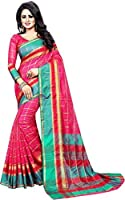 Vatsla Enterprise Women's Cotton Saree With Blouse Piece(VPYSPINKSAREE_PINK_COLOUR)