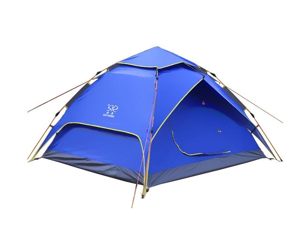 YHKQS-KQS Automatische Pop-Up-Zelt Sommer-Urlaub Wasserdichte Faltbare Sonnenschirm Doppel-Haut Rucksack Zelte   Familie Zelt geeignet für 3-4 Person mit Tragetasche 200  230  140cm