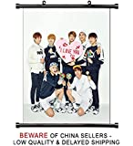 BTS KPOP Group Fabric Wall Scroll Poster (16 x 20) Inches