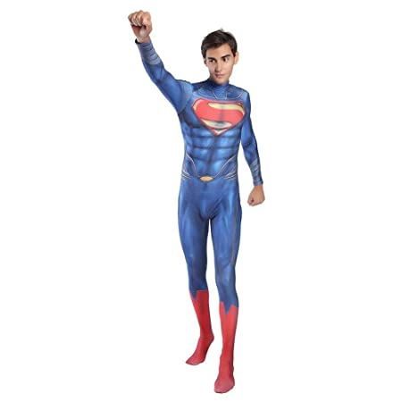 Rmckj-Q Superman Cosplay Disfraz Adulto Halloween Kids Lycra ...