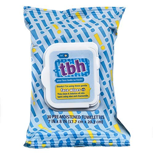 TBH Kids Gentle Face Wipes- - Daily Cleansing and Hydrating Face Wipes - Sulfate, Paraben Free - 30 Pack