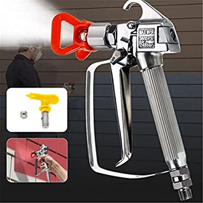 3600PSI Spray Gun w/ 517 Tip & Guard Airless Paint Sprayer For Graco Titan Wagner