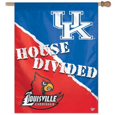 (NCAA Kentucky Vs Louisville 27-by-37-Inch Vertical Flag-House Divided)
