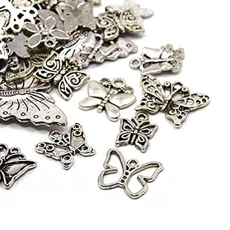 30g x tibetan silver mixed charms pendants antique silver 30g x tibetan silver mixed charms pendants antique silver butterflies ha06700 mozeypictures Gallery
