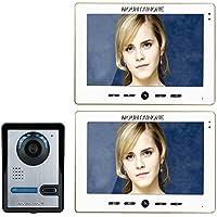 MOUNTAINONE 10 Inch Video Door Phone Doorbell Intercom Kit 1-camera 2-monitor Night Vision