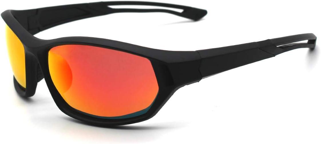 LATEC Gafas de Sol Deportivas, Gafas Ciclismo Polarizadas con Protección UV400 y TR90 Unbreakable Frame, para Hombres Mujeres al Aire Libre Deportes Pesca Esquí Conducción Golf Correr Ciclismo