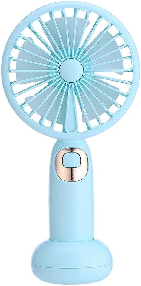 Mini Ventilador USB Silencioso, JiaMeng Mini portátil USB Recargable Dulce floreciente Ventilador de música Bluetooth De Escritorio USB Activado Ventilador Silencioso ...